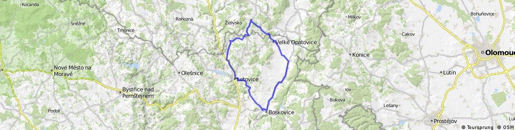 Březina - Boskovice - Letovice - Březina