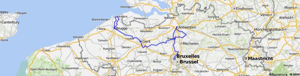 Girolibero: Bruxelles Bruges bici e barca