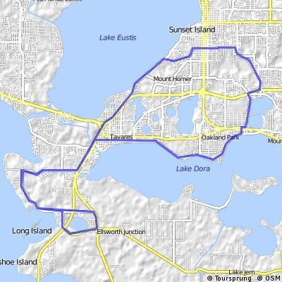 3 bigger lakes, one smaller ride