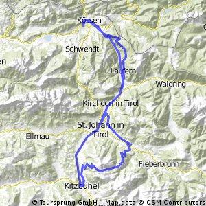 Kitzbüheler Horn von Kössen aus - Bike Trail Tirol