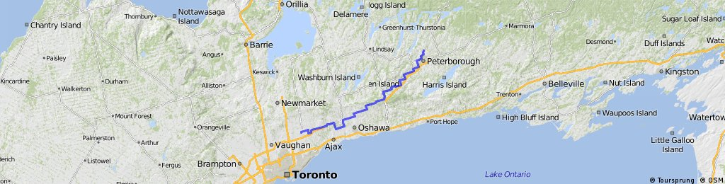 Peterborough to Markham
