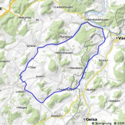 RUNDKURS - Eiterfeld - Schenklengsfeld - Philippsthal - Wenigentaft - Eiterfeld