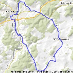 RUNDKURS - Eiterfeld - Bad Hersfeld - Solz- Schenklengsfeld - Eiterfeld