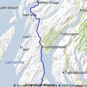 Lochranza Arran nach Oban