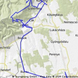 Szombathely - Kőszeg - Szent Vid - Szombathely