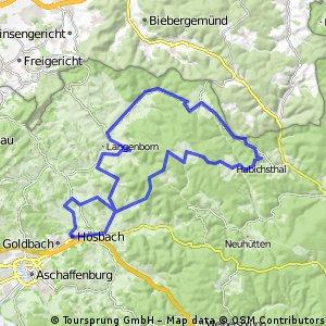 1230hm Hösbach-Sailauf-Schöllkrippen-Wiesen-Habichsthal-Engländer-Sailauf