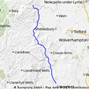 Day 5 - Hereford to Llangollen
