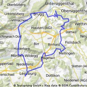 Von Lenzburg auf die Baldegg bei Baden