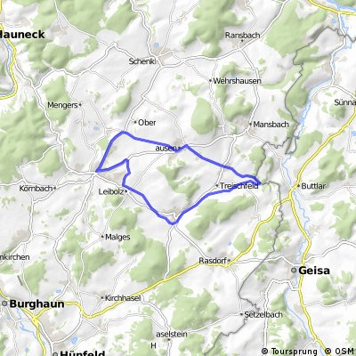 RUNDKURS - Eiterfeld - Ufhausen - Soisdorf - Großentaft - Leibolz - Eiterfeld