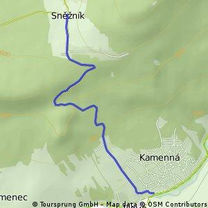 Anstieg von Jilove nach Snecznik