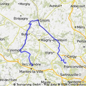 Jouy - Gisors - Gasny - Mantes