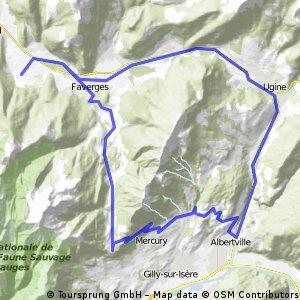 Giez - Albertville - Col de Tamié - Giez