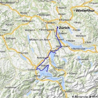 Zurich- Vitznau (1.deň)