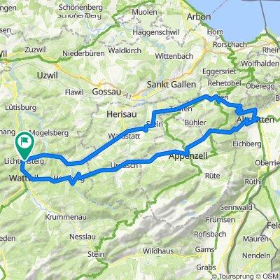 Tagestour'13: Appenzellerland West-Ost-West, mit Ruppen-Pass