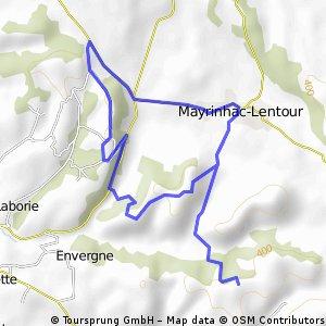 Boucle autour de Mayrinhac-Lentour