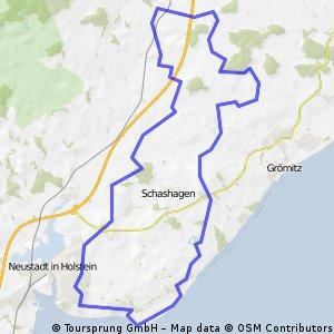 Radtour Neustadt - Manhagen - Rettin.
