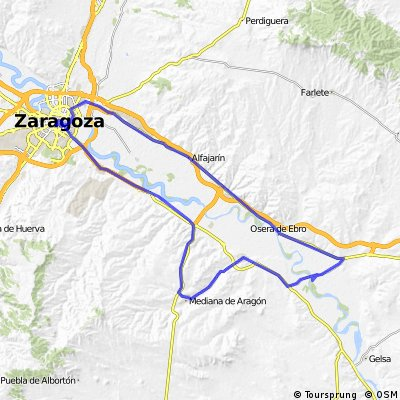 Zaragoza-Pina de Ebro-Zaragoza