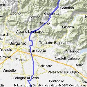 Bariano-Ponte Nossa-Bariano nel Serio