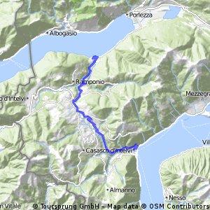 Cycling the Alps Intelvi Porlezza (0779m)