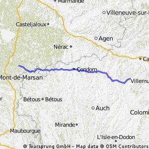8. Etappe Beaumont-de-Lomagne - Saint-Justin