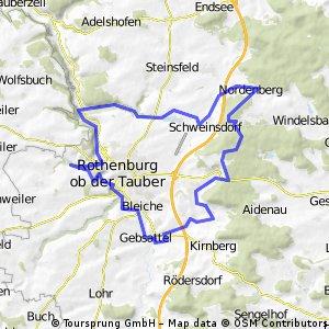 Steinbachtal - Taubertal und zurück