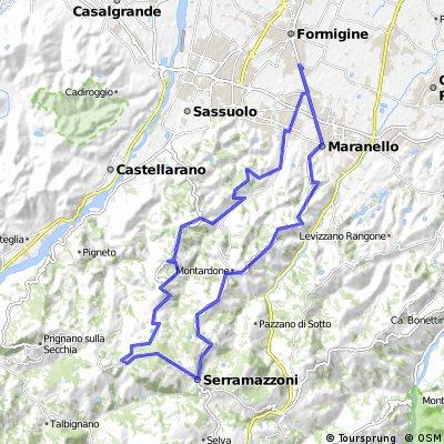 Formigine-Salse di Nirano-Serramazzoni-Maranello