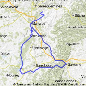 Saarguemines - Mittersheim (France) CLONED FROM ROUTE 681849