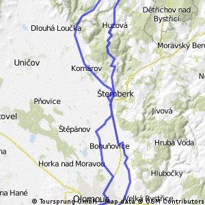 Olomouc - Sovinec - Šternberk - Olomouc