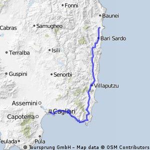 4. stage Sardegna tour - Cagliari - Villasimius - Tortolì CLONED FROM ROUTE 510968