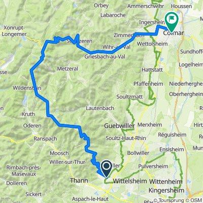 Vogesen '86: Cernay - Route-des-Crêtes - Col de la Schlucht - Colmar