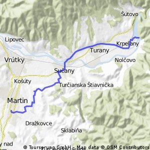 Martin - Sučany - Krpeľany
