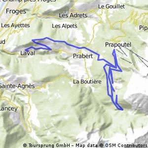 Route de Prabert et descente à Laval
