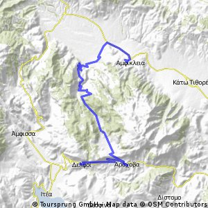 Besichtigungen in Delphi. Über die Parnass-Hochebene nach Amphiklia