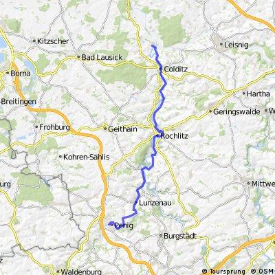 Mulde-Radweg: Amerika - Sermuth