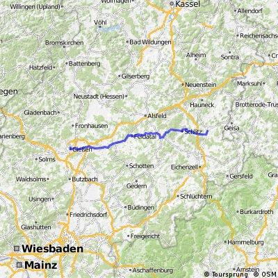 Giessen -> Hünfeld