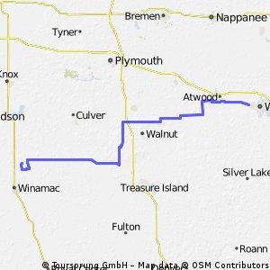 Warsaw to Tippycanoe State Park
