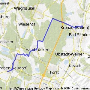 Bad Schönborn - Graben-Neudorf (über Hambrücken und Wald)