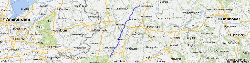 Lilienthal - Dülmen: 2. Etappe Bersenbrück - Dülmen