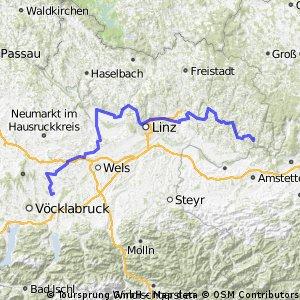 6. Etappe Grein-Schwanenstadt