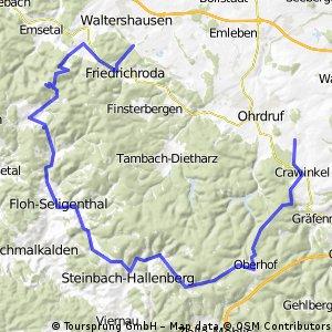 Friedrichroda - Inselsberg -Oberhof - Wölfis