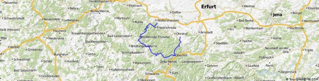 Friedrichroda - Inselsberg - Trusetal - Oberhof- Wölfis