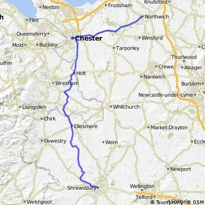 LEJOG Day 6 - Shrewsbury to Northwich