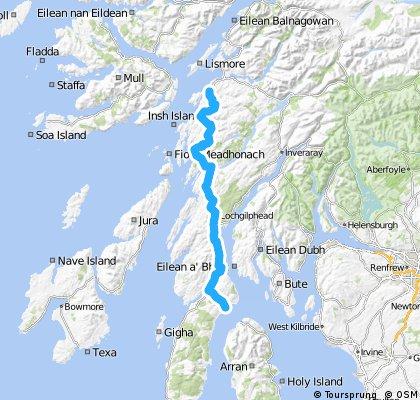 LEJOG Day 11 - Lochranza  to Oban  (via Lochranza - Claonaig ferry)