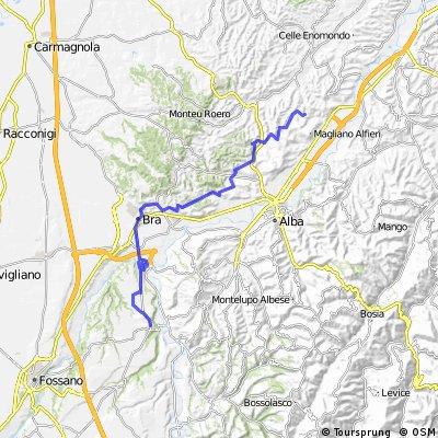 ciclovia svizzera/mare tratto priocca/narzole