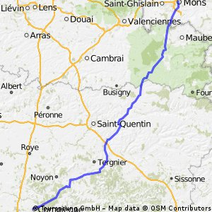 Cycling routes and bike maps in and around Mons Bikemap Your