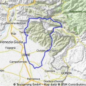 Giro Kobarid-Passo Tanamea