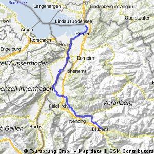 Tag 1: Lindau-Bludenz moderat