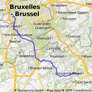 Bruxelles Louvain La Neuve Bikemap Your bike routes