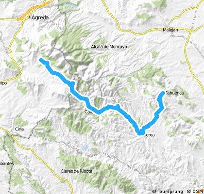 Tabuenca-Tierga-Trasobares-Calcena-Beratón.-Cueva de Agreda