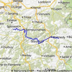 pont du soay to Waimes via Trois Ponts and Malmedy